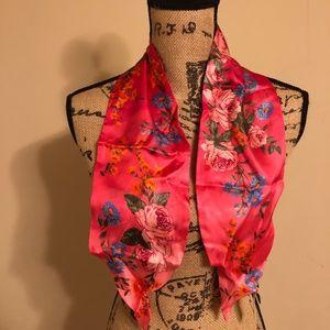 BRAND NEW Ann Taylor Floral Silk Scarf 100% silk!